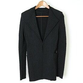 【中古】GIVENCHY ジバンシィ ジャガードジャケット レディース ブラック S