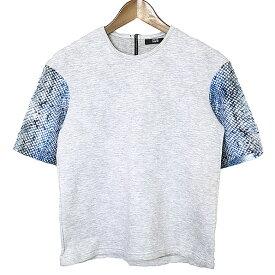 【中古】Markus Lupfer マーカスルーファー 袖切替Tシャツ レディース グレー XS