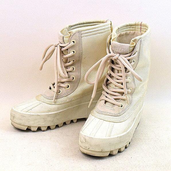 【中古】adidas アディダス YEEZY 950 W boots TURTLE ブーツ レディース アイボリー 22.5cm