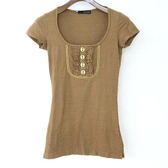 DSQUARED2 Dis kelp grouper ard 07SS cotton frill design dress Lady's brown XS