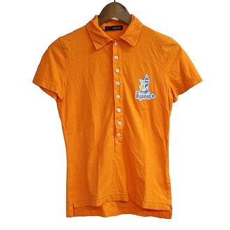 DSQUARED2 Dis kelp grouper ard 07SS logo print henley neck polo shirt orange S