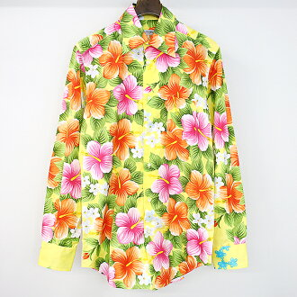 DOLCE&GABBANA dolce & ガッバーナボタニカル bottle tit sleeve shirt Lady's mixture 39