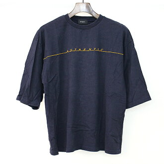 G.V.G.V ジーヴィジーヴィ 17SS Authentic over size T-shirt navy XS Lady's