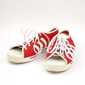 【中古】adidas Originals by JEREMY SCOTT アディダスオリジナルス バイ ジェレミースコット スニーカーサンダル レッド 24cm レディース