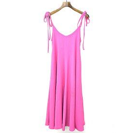 【中古】G.V.G.V ジーヴィジーヴィ BOW KNOT ドレス ピンク 36 レディース