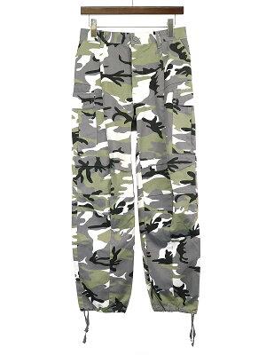 【中古】VETEMENTS ヴェトモン 17AW Military Printed Pants カモフラ柄ミリタリーカーゴパンツ 迷彩 カーキ M レディース