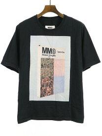 【中古】MM6 エムエムシックス 18SS American Jersey プリントTシャツ ブラック L レディース
