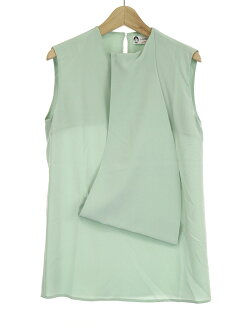 LANVIN orchid van 17AW sleeveless silk blouse green 34 Lady's