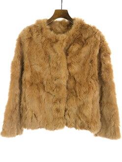 JILL by JILL STUART Jill by Jill Stewart rabbit fur no-collar jacket brown S Lady's