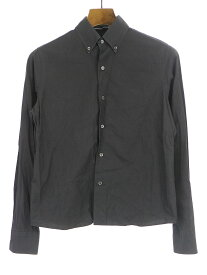 【中古】LAD MUSICIAN ラッドミュージシャン コットンシャツ ブラック 40 レディース