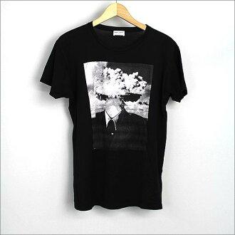 SAINT LAURENT PARIS(Saint-Laurent巴黎)15SS Bombhead印刷T恤黑色S
