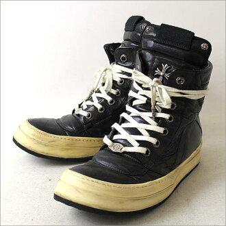 瑞克 · 歐文斯 (Rick Owens) x 鉻心/Geobasket 運動鞋和運動鞋真皮黑色 44