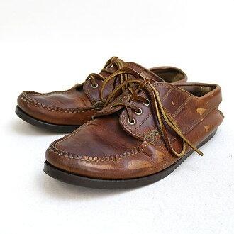 YUKETEN yuketen 釣魚 MOC 皮革鞋棕色尺寸未表記 (26 釐米-26.5 釐米)