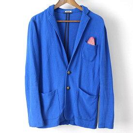 9ec5df820e386 KRAB クラブ 2Bコットンニットジャケット ブルー S【中古】