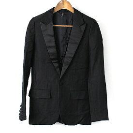 Dior HOMME ディオールオム 08AW ピークドラペル1Bスモーキングジャケット メンズ ブラック 40
