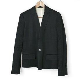 ANREALAGE アンリアレイジ ラペルデザイン1Bテーラードジャケット ブラック 0【中古】