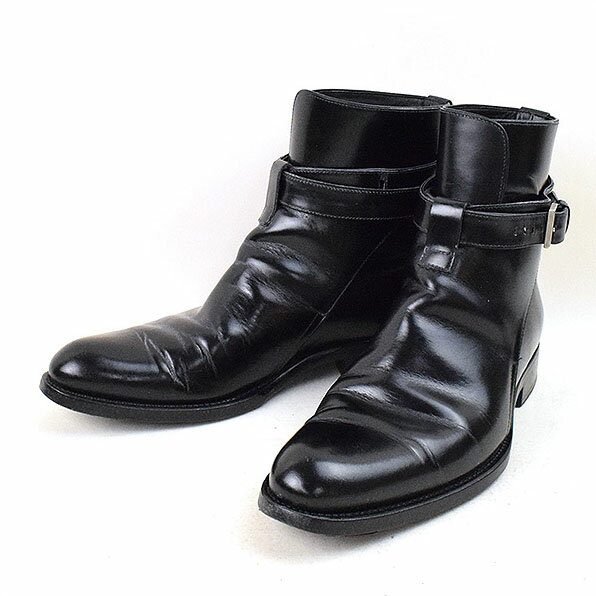 Dior HOMME ディオールオム 11AW ベルテッドレザーブーツ ブラック 41.5(26.5cm程度)【中古】