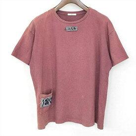 VON SONO ボンソノ REBUILDパッチクルーネックTシャツ 小豆色 M【中古】