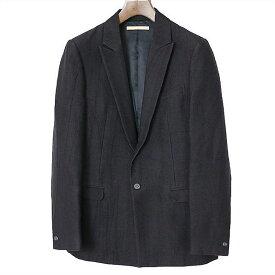 AUGUSTE-PRESENTATION オーギュストプレゼンテーション コットンウールピークドラペル1Bジャケット ブラック M【中古】