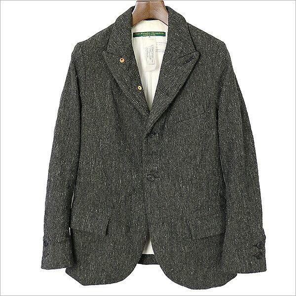 Paul Harnden ポールハーデン 4Button Traditional Tweed Blazer ツイードジャケット カーキ M【中古】