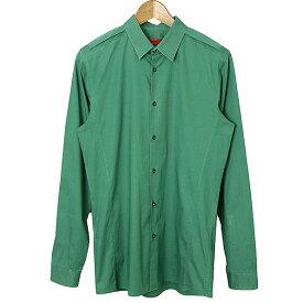 【中古】HUGO BOSS ヒューゴ ボス エポーレットデザインストレッチシャツ メンズ グリーン M