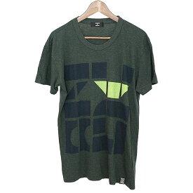 【中古】CABANE de ZUCCa カバンドズッカ 12AW ブロックロゴTシャツ メンズ グリーン M
