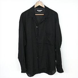 【中古】Yohji Yamamoto POUR HOMME ヨウジヤマモト プール オム 17SS テンセル製品染めループ付シャツ メンズ ブラック 1