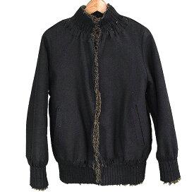 【中古】UNDER COVER アンダーカバー 05AW カッティングデザインボアジャケット メンズ 秋冬 ブラック 2