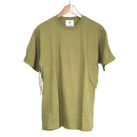 【中古】GDC ジーディーシー 16AW FRINGE TEE バックフリンジTシャツ メンズ カーキ L