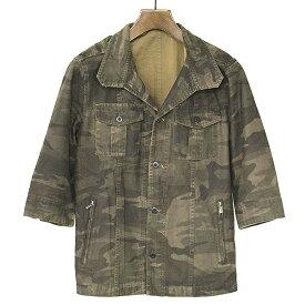 【中古】SHELLAC シェラック カモフラージュ柄シャツジャケット メンズ ミックス 46