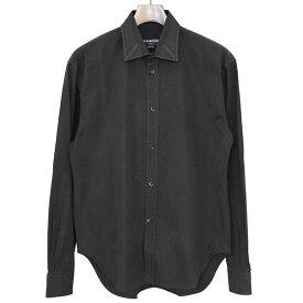 【中古】BALENCIAGA バレンシアガ 17SS オーバーサイズドコットンブロードシャツ メンズ ブラック 37