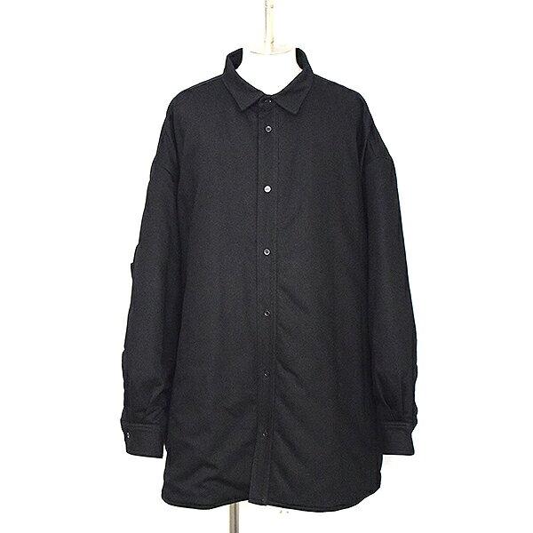 【中古】RAF SIMONS ラフシモンズ 17AW 中綿入りオーバーサイズシャツコート メンズ ブラック 44