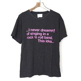 【中古】The Letters ザ レターズ 18SS PATRICIA Pocket T-shirt 英字プリントポケットTシャツ メンズ ブラック M