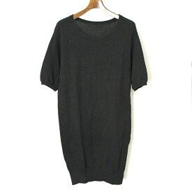 【中古】the Sakaki ザ サカキ the Bang コットンニットカットソー Tシャツ メンズ ブラック