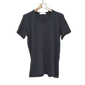 【中古】VADEL バデル カットオフネックTシャツ メンズ 無地 ブラック L