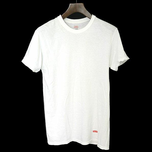 【中古】Supreme シュプリーム ×HANES ヘインズ パックTシャツ メンズ ホワイト S