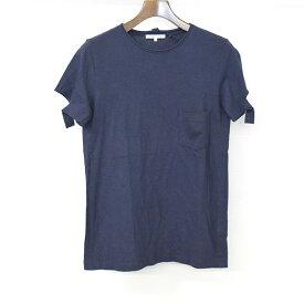 【中古】HELMUT LANG ヘルムート ラング アームカットデザインポケットTシャツ メンズ ネイビー S