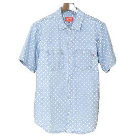 7375022190  中古 Supreme シュプリーム 18SS Polka Dot Denim Shirt ポルカドットデニムシャツ メンズ インディゴ