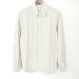 【中古】UNDER COVER アンダーカバー ストライプ柄デザインシャツ メンズ マルチカラー M