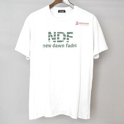 【中古】RAFSIMONSラフシモンズ17AWNewdawnfadesプリントTシャツメンズホワイトS