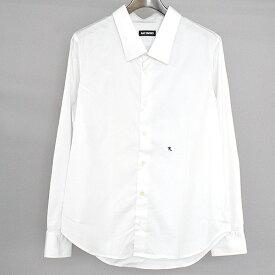 【中古】RAF SIMONS ラフシモンズ R刺繍レギュラーカラードレスシャツ メンズ ホワイト 46