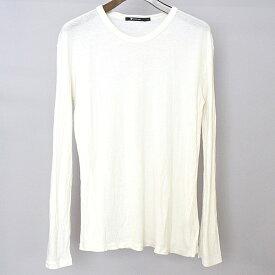 【中古】T by ALEXANDER WANG ティーバイアレキサンダーワン シルク混レーヨンロングスリーブTシャツ メンズ ホワイト XS