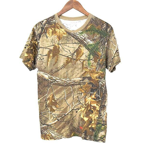 【中古】Supreme シュプリーム ×Hanes ヘインズ 17AW Realtree Tagless Tee ヘインズリアルツリーカモタグレスTシャツ メンズ カーキ S