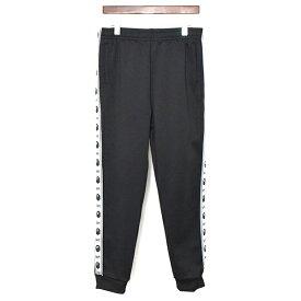 【中古】A BATHING APE ア ベイシング エイプ サイドロゴライン裾リブトラックパンツ メンズ ブラック M