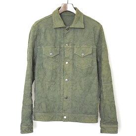 【中古】lucien pellat-finet ルシアンペラフィネ スカルカモフラデザインジャケット メンズ カーキ M
