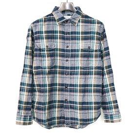 【中古】KATO カトー コットンチェックシャツ メンズ グリーン M