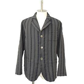 【中古】COMME des GARCONS SHIRT コムデギャルソンシャツ 縮絨ストライプジャケット メンズ チャコール M