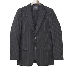 【中古】ripvanwinkle リップヴァンウインクル チョークストライプカシミヤ混2Bテーラードジャケット メンズ ネイビー 3