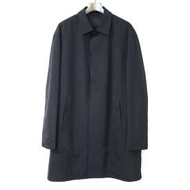 【中古】PRADA プラダ 中綿ステンカラーコート メンズ ブラック M