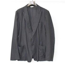 【中古】DRIES VAN NOTEN ドリスヴァンノッテン ピークドラペル2Bテーラードジャケットジャケット メンズ ブラック 48